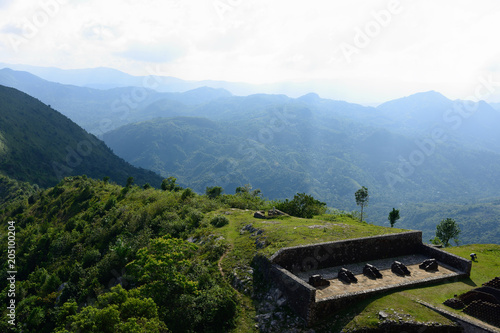 Fotografie, Obraz  Remains of the French Citadelle la ferriere built on the top of a mountain, Hait