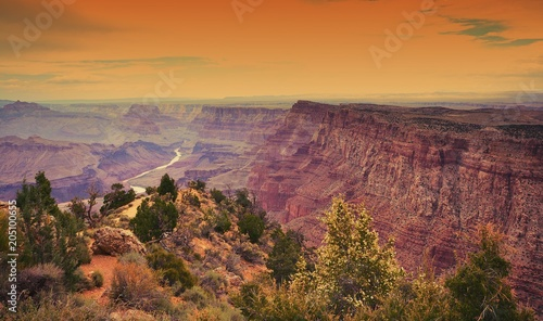 Tuinposter Centraal-Amerika Landen South Rim Grand Canyon, Arizona, US.