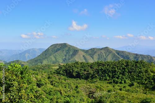 Foto auf Gartenposter Gebirge Mountain range over Haiti