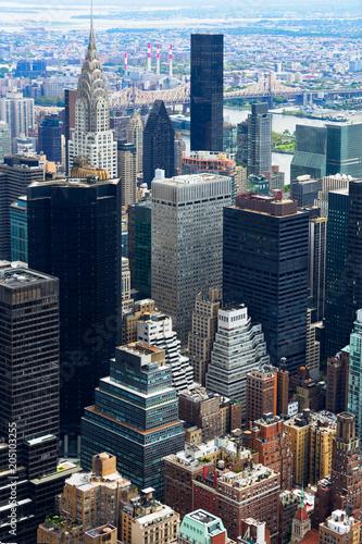 In de dag New York City Manhattan Skyscraprers Aerial View, NYC, USA