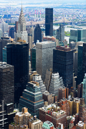 Staande foto New York City Manhattan Skyscraprers Aerial View, NYC, USA