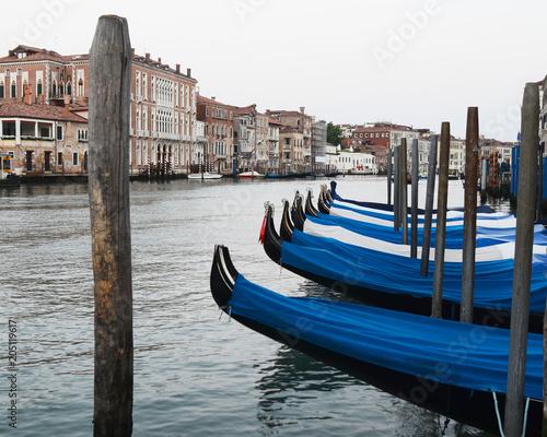 Tuinposter Gondolas Gondolas on Grand Canal (Landscape), Venice, Italy