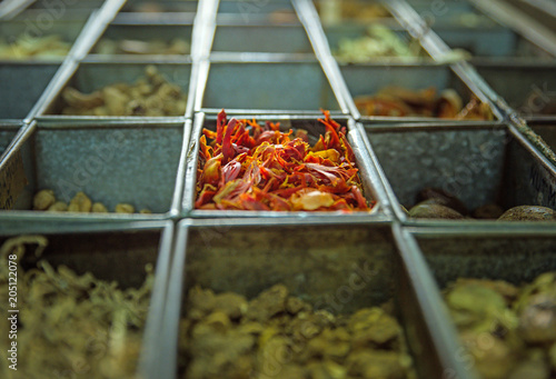 Foto op Plexiglas Artist KB Picture of a lot of boxes full of spices