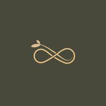 Floral Logo. Flower Wedding Icon. Luxury Retro Emblem. Cosmetics, Spa, Beauty Salon, Decoration, Boutique Vector Logo.