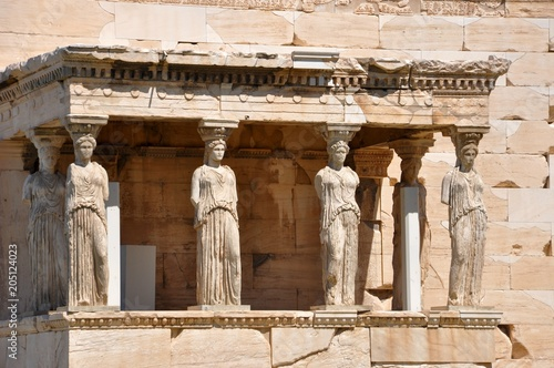 Tuinposter Athene caryatides, caryatides, acropole, Athènes