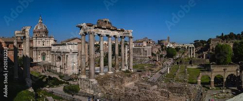 Leinwand Poster Forum Romain depuis le Capitole - Panoramique
