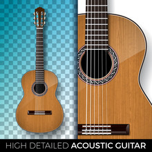 Acoustic Guitar Isolated On Tr...