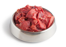 Raw Beef Meal In Bowl, Fresh, ...