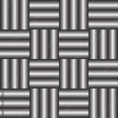 Fotografie, Obraz  Graphic grayscale bars with optical illusion pattern