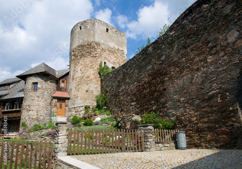 Fotobehang Artistiek mon. Historic city fortifications in the town Vimperk in southern Bohemia, Czech republic, Europe,
