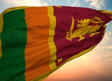 Sri Lanka Flag, Waving Flag