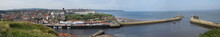 Panorama Of Whitby Town, North Yorkshire, UK - Sep 2017