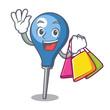 Shopping clyster character cartoon style