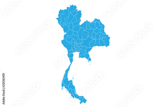 Map of thailand. High detailed vector map - thailand. - Buy this ...