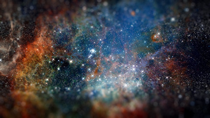 Naklejka Nebula the site of star formation. Elements of this image furnished by NASA.