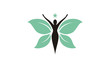 Beauty Butterfly Woman with Leaf Wings for Natural Healthy Life logo design inspiration