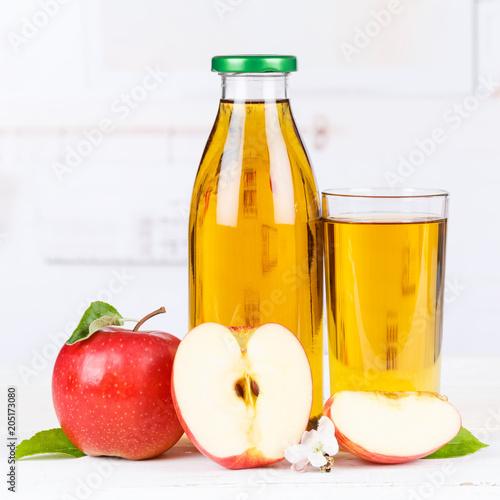 Papiers peints Apfelsaft Apfel Saft Äpfel Flasche Fruchtsaft Quadrat Textfreiraum Copyspace