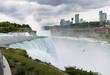 Birds flying near Niagara waterfall in USA
