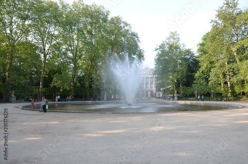 Poster Fontaine Fontaine du Parc de Bruxelles royal Warandepark