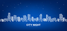Panorama City Night Background...