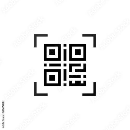 Valokuvatapetti Simple machine-readable qr code