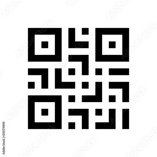 Fotomural Digital scanning qr code label