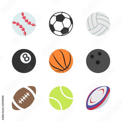 Canvastavla Sports Balls Set