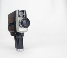 Vintage Video Camera On Isolat...
