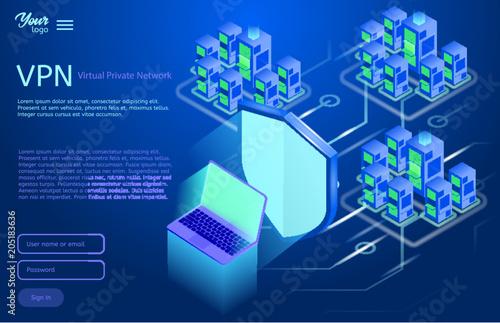 Fotografía  Secure VPN connection concept