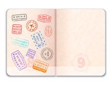 Realistic Open Foreign Passpor...