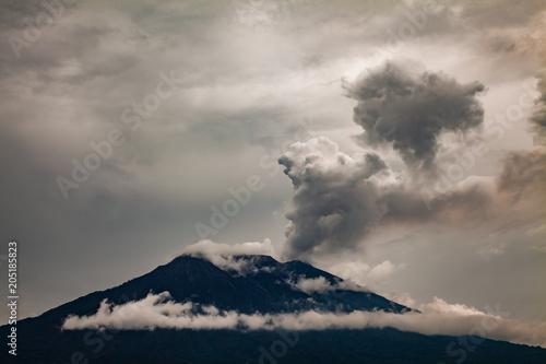 Deurstickers Asia land Eruption of Mt. Agung volcano in east Bali, Indonesia