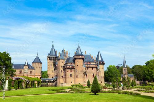 Deurstickers Historisch geb. May 12, 2018. Castle De Haar, Utrecht, Netherlands.