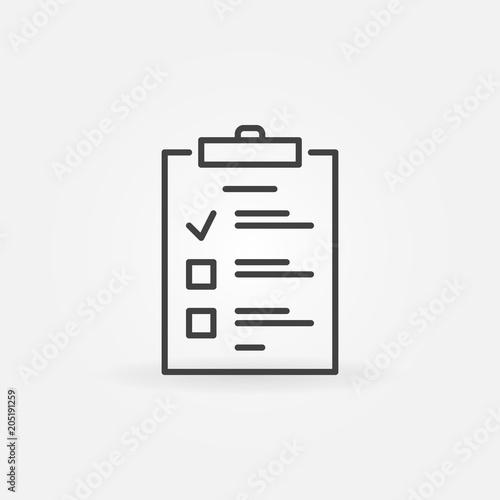 To Do List outline icon. Vector checklist concept symbol Poster