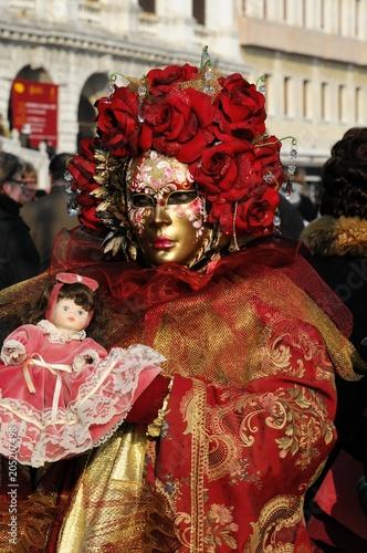 Stickers pour porte Delhi Maske, Carneval, Carnevale, Karneval in Venedig, Venetien, Italien, Europa