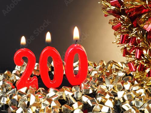 Tela  Birthday-anniversary candle showing Nr