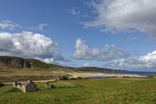 United Kingdom, Scotland, Highland, Sutherland, Crofter House, Farmhouse Near Bettyhill