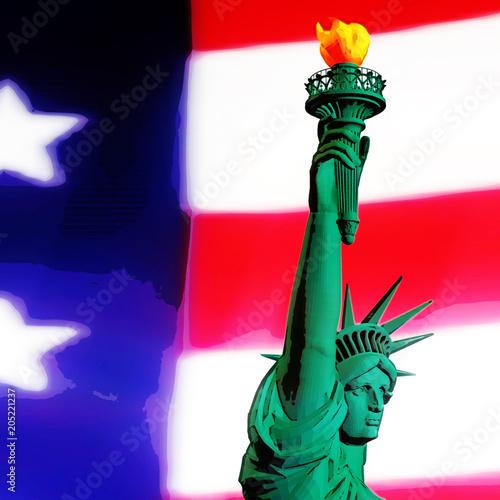 Obraz na płótnie 3D Rendering of the Statue of Liberty