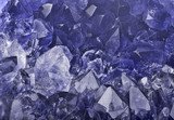 dark blue sapphire crystals macro backgrond