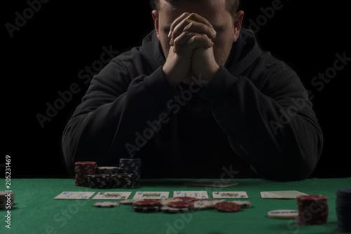 фотография  Poker table setup