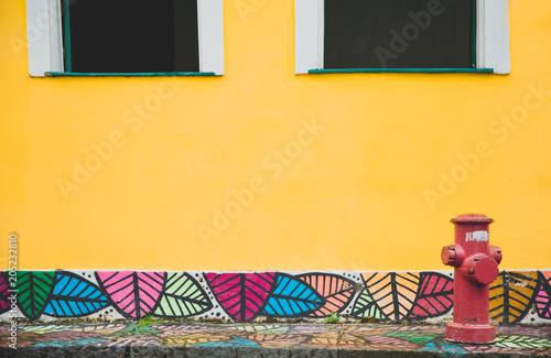 Fotografie, Obraz  Yellow Wall in Bahia, Salvador - Brazil