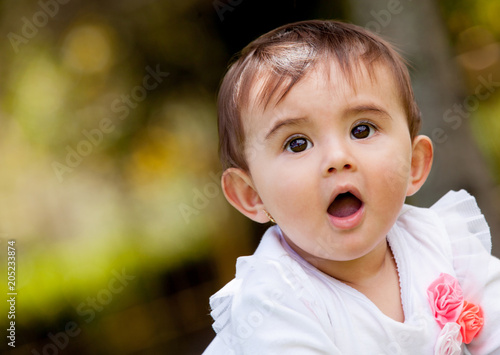 Fotografie, Obraz  Playful baby girl