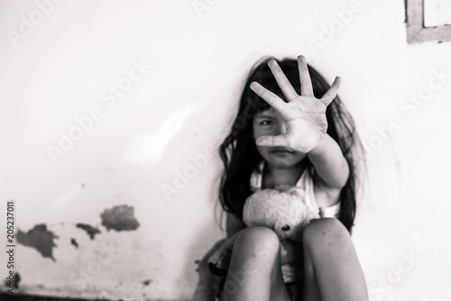 Photo Stop abusing violence. violence, terrified , A fearful child