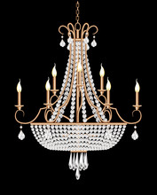 Illustration Of A Chandelier W...