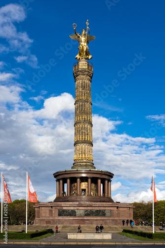 Zdjęcie XXL Widok Kolumna Zwycięstwa, główną atrakcją turystyczną w Berlinie, Niemcy
