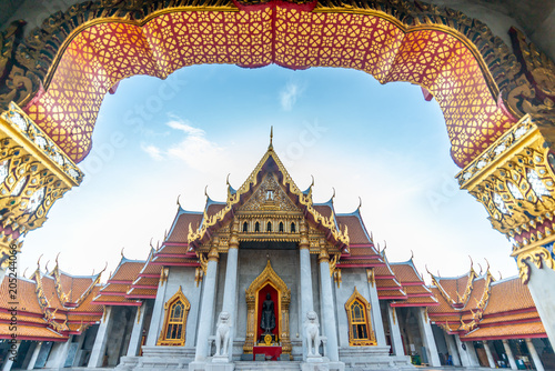 Photo  Marble temple in Bangkok, Thailand