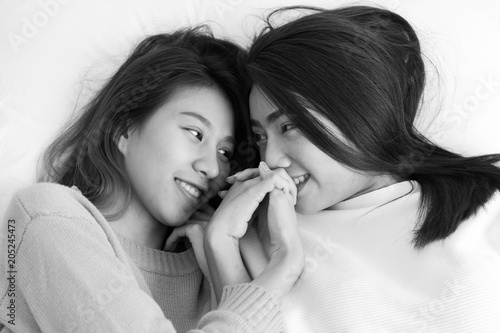 Asian white lesbians