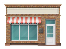 Brick Small Store Building Fac...