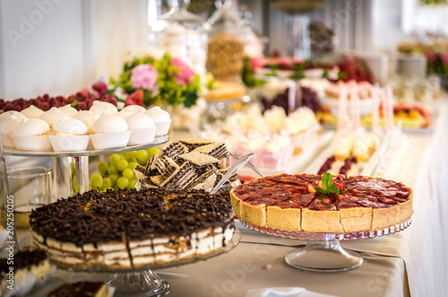 Fototapeta Catering, bufet, ciastka i słodycze obraz
