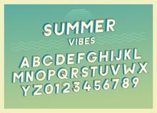 Summer Vibes Font Effect Desig...