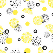Abstract Seamless Lemon Patter...